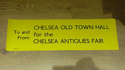 London Transport Routemaster Slipboard Poster - CHELSEA TOWN HALL ANTIQUES FAIR