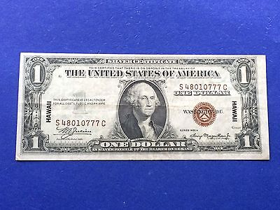 **LUCKY 777!!** $1 1935-A Hawaii WWII Emergency Issue Note (S-C Block)