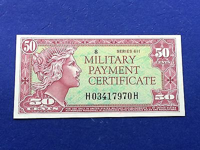 *SUPERB GEM UNCIRCULATED* 50c (Series 611) Military Payment Certificate MPC
