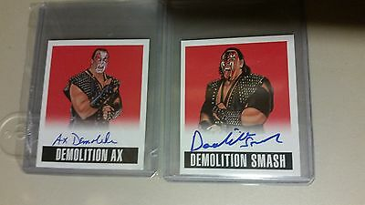 2014 Leaf Originals DEMOLITION SMASH AX RED/10 wrestling Card Auto Autograph WWE