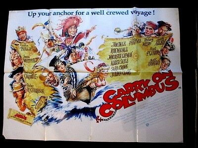 CARRY ON COLUMBUS  VINTAGE 40x30 inch GENUINE UK QUAD FILM MOVIE POSTER