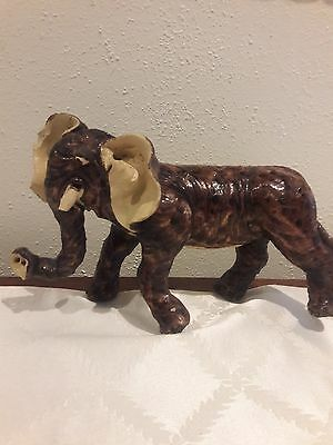 Antique 19thC. Chinese Pottery Temple Roof Tile Elephant