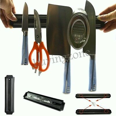 Magnetic Knife Utensil Tool Holder Wall Mount Kitchen Rack Storage Pub Bar Block