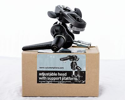 Calumet adjustable head with support platform - MF6817 similar to Manfrotto 155