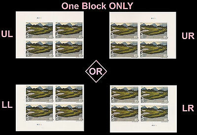 US C149 Airmail Glacier National Park 85c plate block MNH 2012