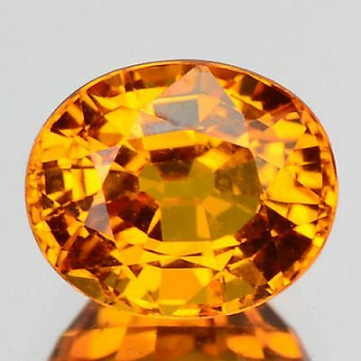 1.32 Cts Sparkling Top Quality Orange Yellow Color Natural Ceylon Sapphire