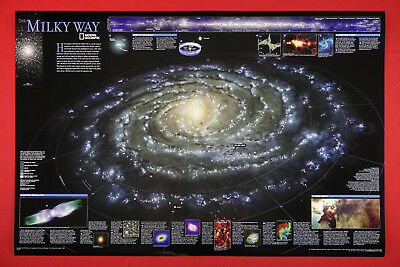 Milky Way National Geographic 2002 Galaxy Picture Poster Print Decor 24X36  MWAY