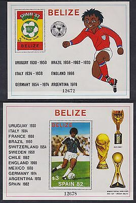 British Honduras Belize 1981 Mint MNH Minisheet World Cup Football Spain Winner