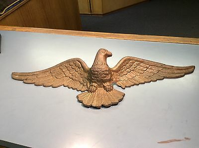 VINTAGE AMERICAN BALD EAGLE BRASS WINGED ART - 29 Inches - EMIG