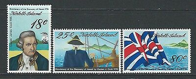 Norfolk Island - #222-#224 - Discovery Of Hawaii Set (1978) Mnh Captain Cook