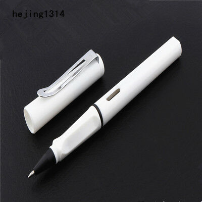 Jinhao 599 White student School office Stationery Black ink nib Gel Pen New