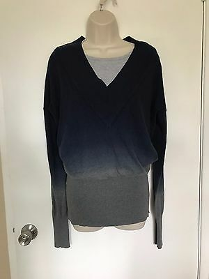 Mothers En Vouge Blue Gray Ombre Sweater - Size Small Maternity Motherhood