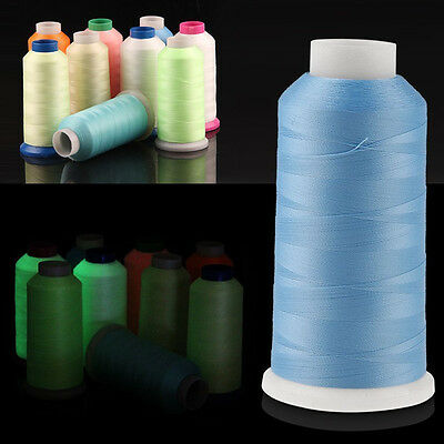 3000/1000Yards Spool Glow In The Dark Machine Embroidery Thread Polyester Sewing