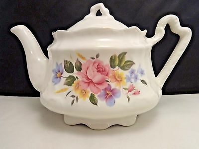 Vintage Arthur Wood & Son Bone China Teapot Staffordshire England