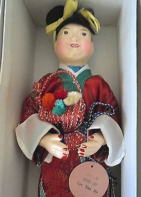 Vintage Chinese Doll by Tripod Trademark   50s