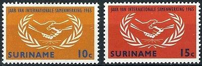 Suriname 1965 SG 549-550  Mi 460-1 MNH International Cooperation Year Hands ICY