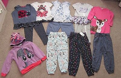 Large Bundle Of Little  Girls Clothes - 4-5 Years. X 12 Items.
