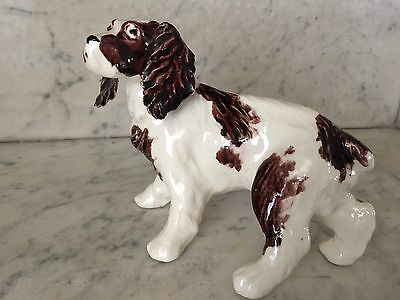 Brown & White Spaniel Hunting Dog Figurine, Delicate Ears, VG, Vintage 1950s