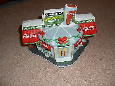 1996 Coca Cola Town Square Collection Scooters Drive In W/ Box & Papers Retired