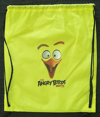 New THE ANGRY BIRDS MOVIE 2016 Promo Drawstring Nylon Backpack with Chuck