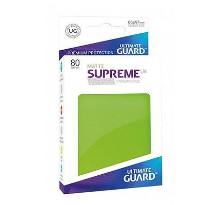 240 Ultimate Guard Supreme Ux Standard Size Sleeves - Matte Light Green