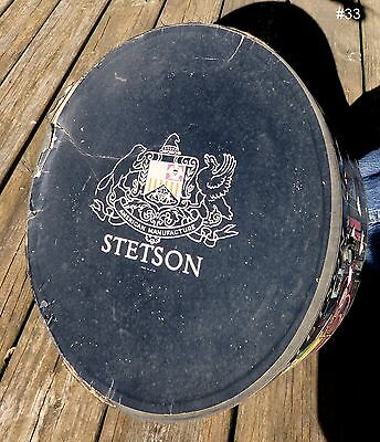 Vintage Stetson Black with People Colorful Hat Box - No Hat-Box Only #33