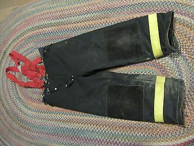 Janesville Lion Firefighter Pants & suspenders Turnout Gear S 40r heavy  liner