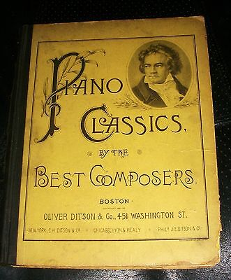 Piano Classics By The Best Composers Oliver Ditson Lyon Healy 1886 Sheet Music