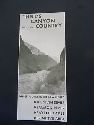 Pre-Owned c1950-60s Hell's Canyon Weiser Idaho Travel Brochure Rivers Lakes Map