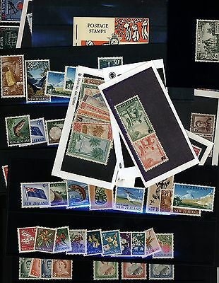 New Zealand stamp Collection - 4 pages - Many better - all MNH