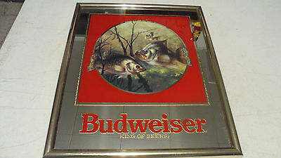 Beautiful Rare 1992 Budweiser Beer Crappie Fish Mirror Sign Only 1 On Ebay