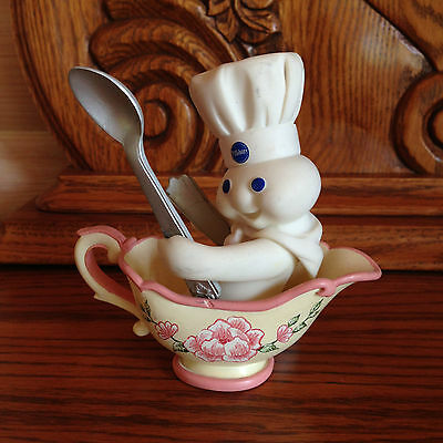 Pillsbury Doughboy Collector Figurines THE GRAVY BOAT Danbury Mint Bake Off