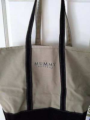 """The Mummy Returns"" Movie Logo Canvas Tote Bag - Brendan Fraser / Dwayne Johnson"