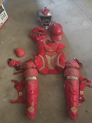 All star Adult Catchers Gear Red