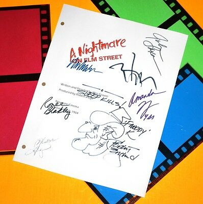 A Nightmare On Elm Street Signed Script Rpt Wes Craven Robert Englund