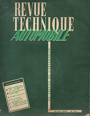 RTA revue technique automobile N° 112 PONTIAC 1949 1954