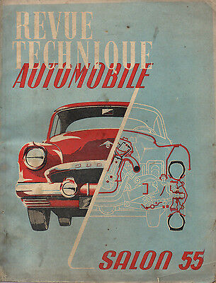 RTA revue technique automobile  SALON 1955 VOITURE