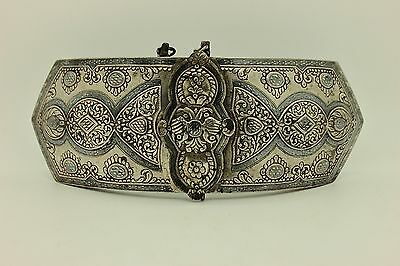 Antique Original Perfect Amazing Greek Silver 1893 Dated Beltbuckle