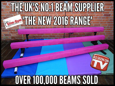 "Slim-Gym 8Ft Long 6"" High Professional Gymnastics Gym Balance Beam 'new Pink'"