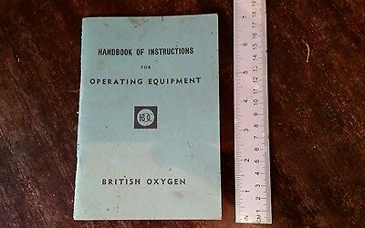BOC Handbook of Instructions for Operating Equipment 1964 - Good Condition