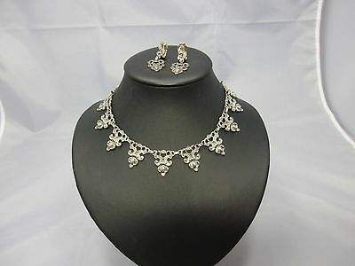 Blachian Schmuck Set Silber 925 Collier & Ohrringe