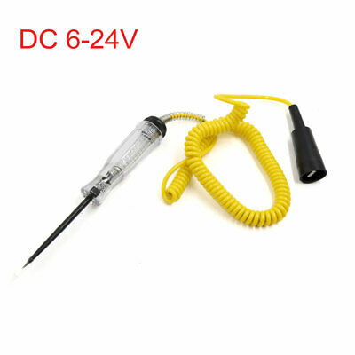Yellow DC 6-24V Electronic Circuit Voltage Tester Repairer Test Pen for Auto Car