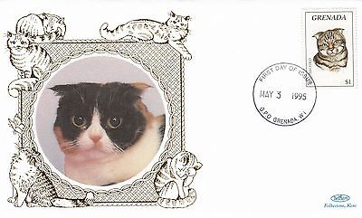 (01755) Grenada Benham FDC Cats 3 May 1995