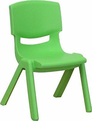 Flash Furniture YU-YCX-003-GREEN-GG Green Plastic Stackable School Chair with...