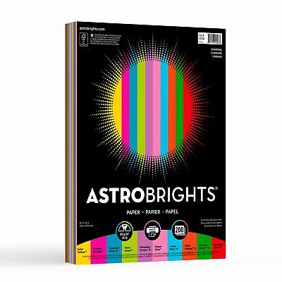 Astrobrights Color Paper 8.5 x 11 24 lb / 89 gsm Charisma 10-Color Assortment...