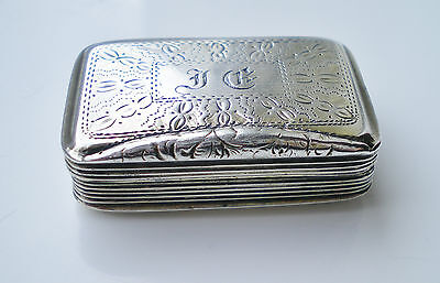 Fine Antique Georgian Sterling Silver Vinaigrette c1829 by William Simpson