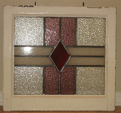 Antique Stained Leaded Glass Window - Houston pick up only