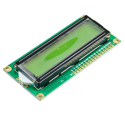 Green DC 5V 16x2 Lines Black Character LCD Module w/Chartreuse Yellow Backlight
