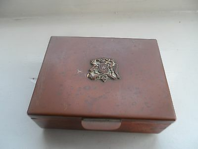 Crested South American Farmetal Chile Copper Box C-1920's No Reserve