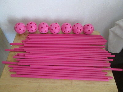 Crazy Forts Replacement Pieces - 40 poles & 7 Balls. Pink